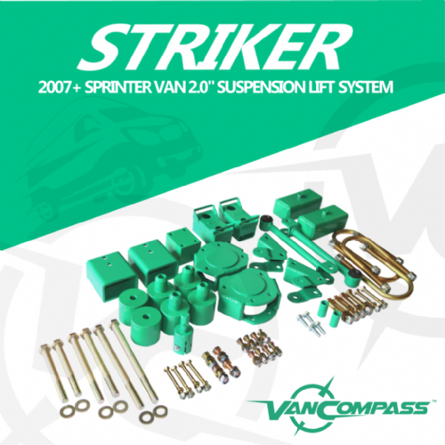 "Van Compass 2007-2018 Striker 2"" Lift Kit 3500 Sprinter"